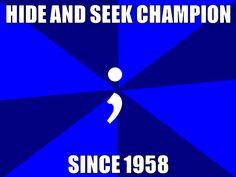 semicolon hide and seek